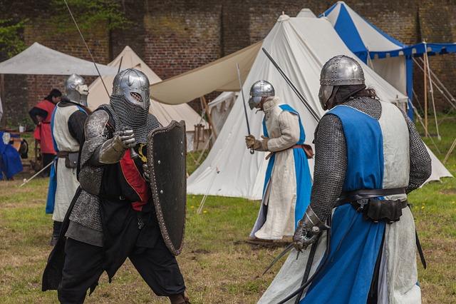 決闘する騎士