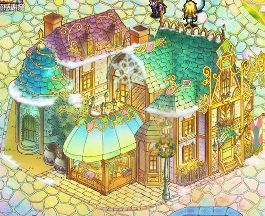 ロマサガRSホーム画面の綺麗な家